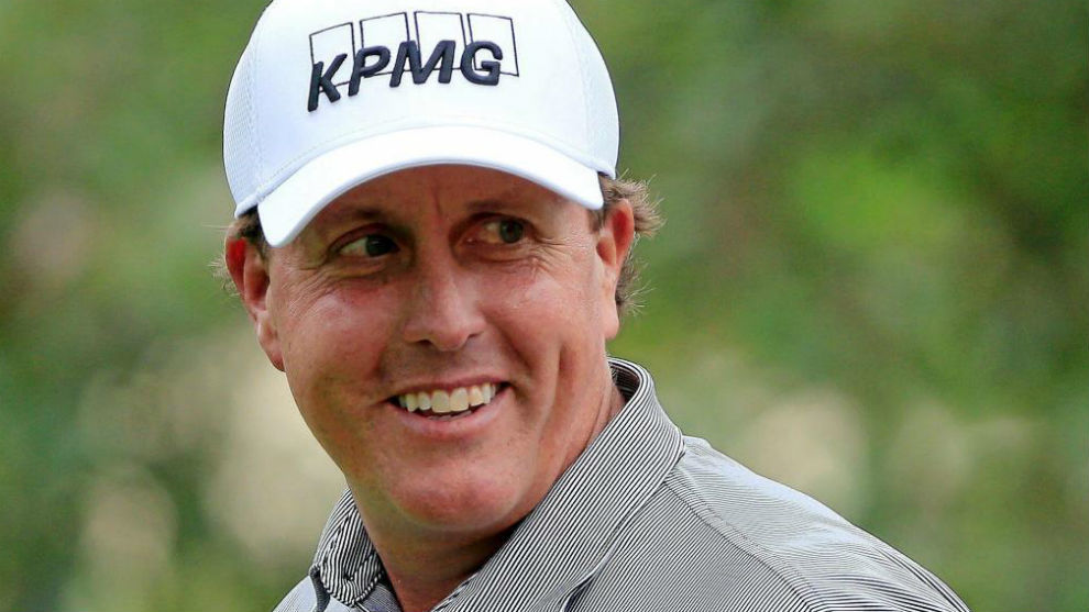 Phil Mickelson, durante el ProAm previo a The Memorial, en junio de...