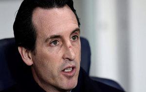 Emery, en un partido del PSG.
