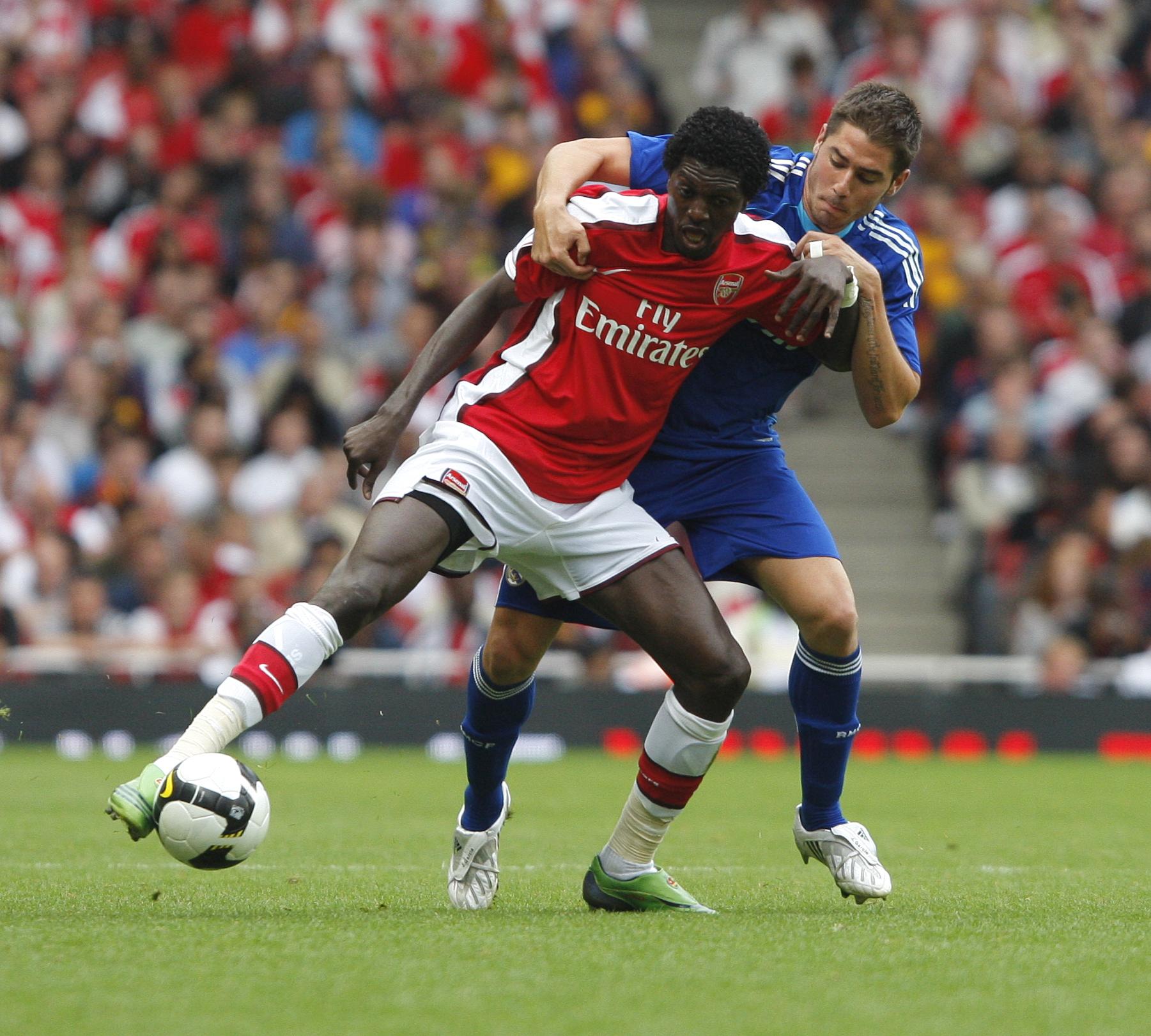 Resultado de imagen para Emmanuel Adebayor 2008