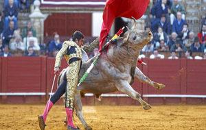 Joselito Adame en una corrida de toros en Sevilla.
