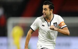 Xavi Hernández, en un partido con Al-Sadd.