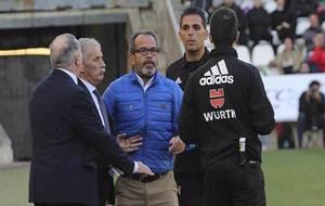 Claudio Barragán, en el momento de ser expulsado el domingo en...