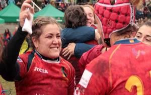 Una emocionada Aroa celebra la clasificacion de España al Mundial de...
