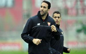 Rami, junto a Ben Yedder, en un entrenamiento.