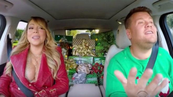 Mariah Carey y James Corden en 'Carpool Karaoke'