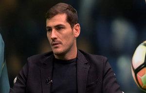 Iker Casillas, en un momento de la entrevista con 'Porto...