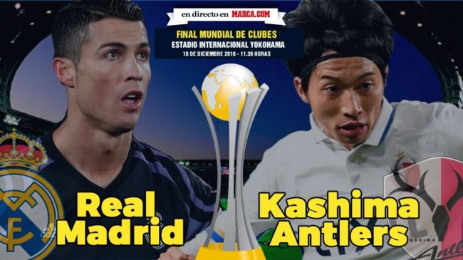 Real Madrid vs Kashima Antlers en directo