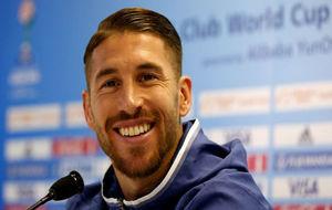Ramos en la rueda de prensa previa a la final del Mundial de Clubes
