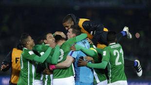 Así celebraron los jugadores de Atlético Nacional su triunfo ante el...