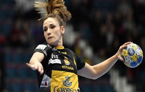 Carmen Martín, durante un partido del Europeo femenino.