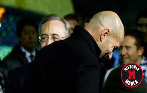 Florentino y Zidane se saludan en Yokohama