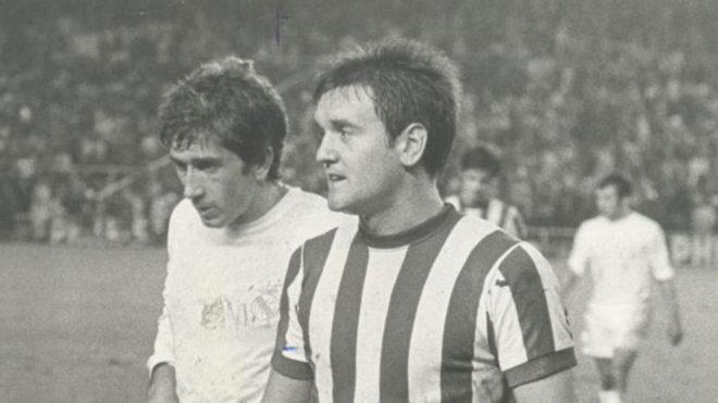 Uriarte, junto a Manolo Velázquez en la temporada 69/70