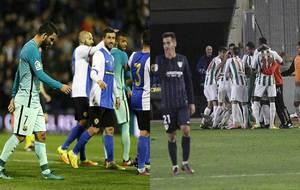 Barcelona y Málaga, en la imagen en los partidos de ida, no se pueden...
