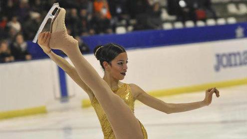 Valentina Matos, durante su actuación en el Campeonato de España