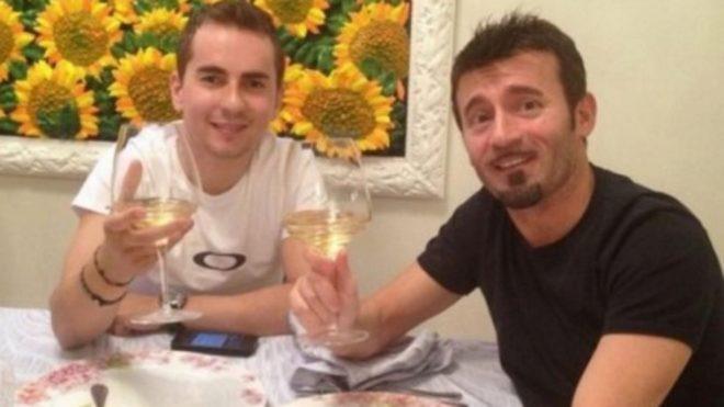 Lorenzo, con Biaggi.
