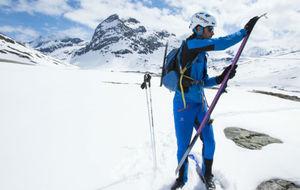 Kilian Jornet, en la nieve.