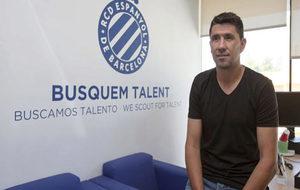 Ángel Gómez, durante su etapa en el Espanyol.