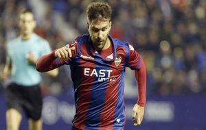 Casadesús durante un partido con el Levante en la presente temporada.