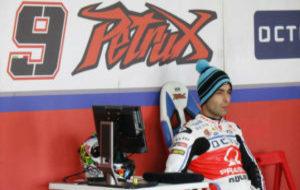 Danilo Petrucci, durante los entrenamientos en Jerez