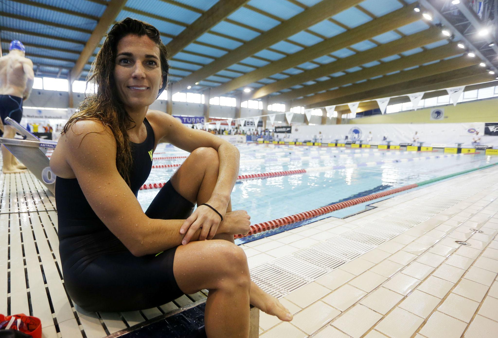 Laura Roca, durante los Campeonatos de España de invierno, la pasada...