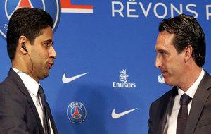 Al-Khelaifi y Emery, el día de la presentación del técnico del PSG