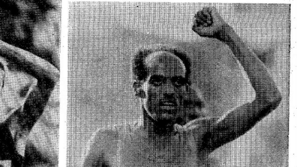Myruts Yfter celebra su triunfo en 5.000 en Moscú 80