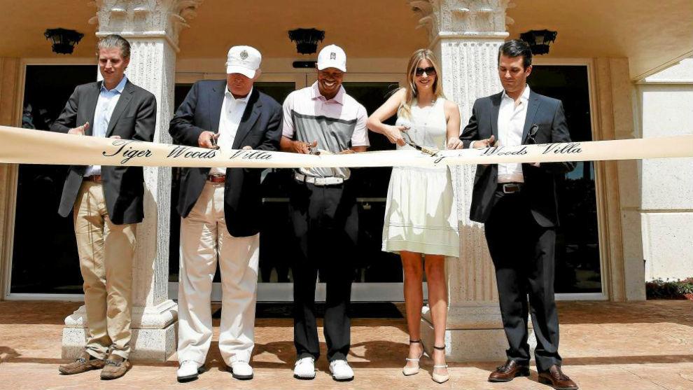 Tiger Woods y Donald Trump inauguran la 'Villa de Tiger' en el Trump...