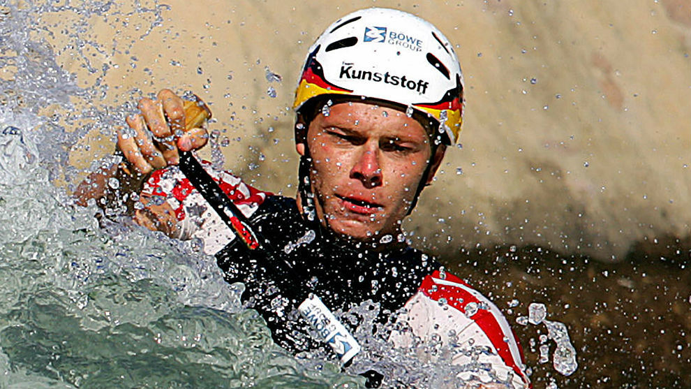 Stefan Henze, durante su participación en los Juegos de Atenas 2004.