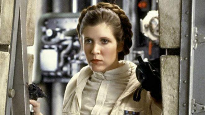 Carrie Fisher como la princesa Leia Organa en 'Star Wars'