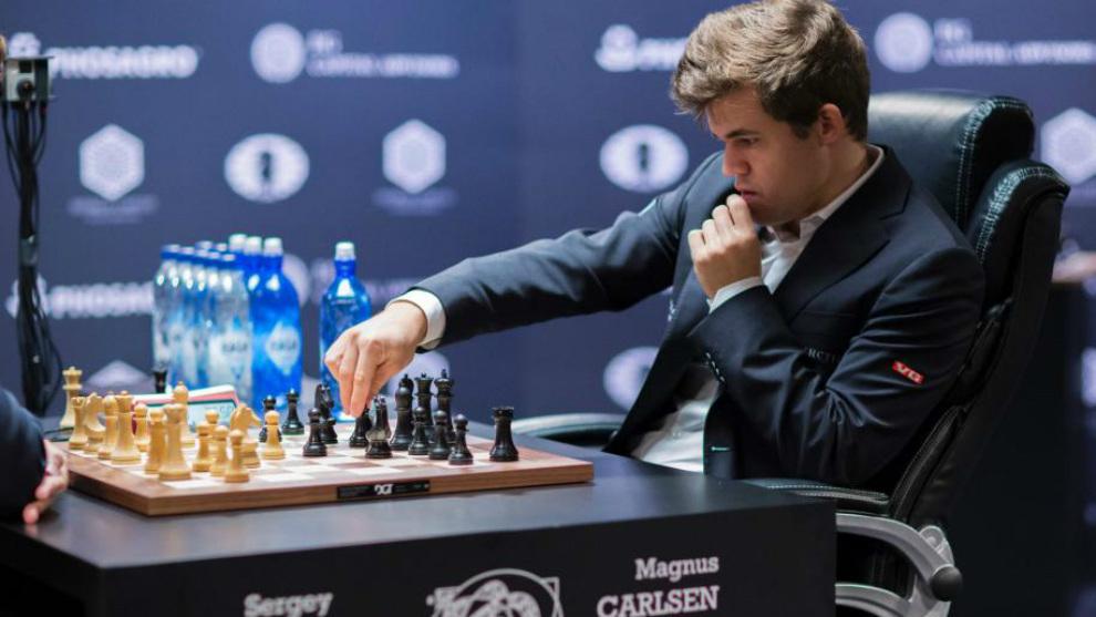 Carlsen, durante el Mundial absoluto