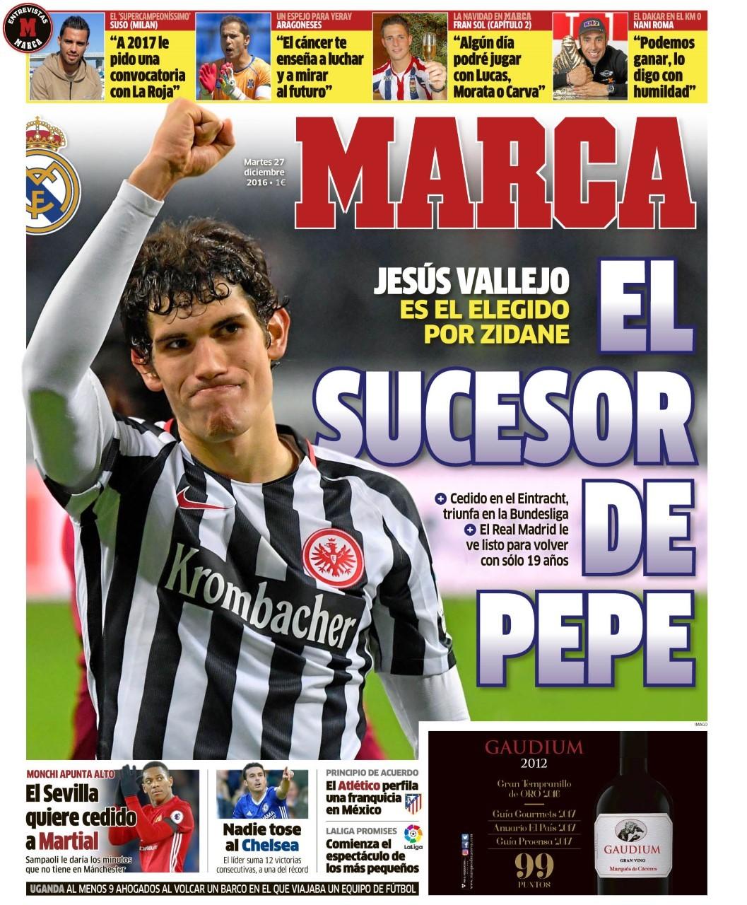 Real madrid vallejo es el heredero de pepe for El marca del madrid