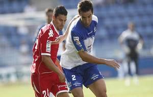 Óscar González y Marc Bertrán, durante un Tenerife-Valladolid de...