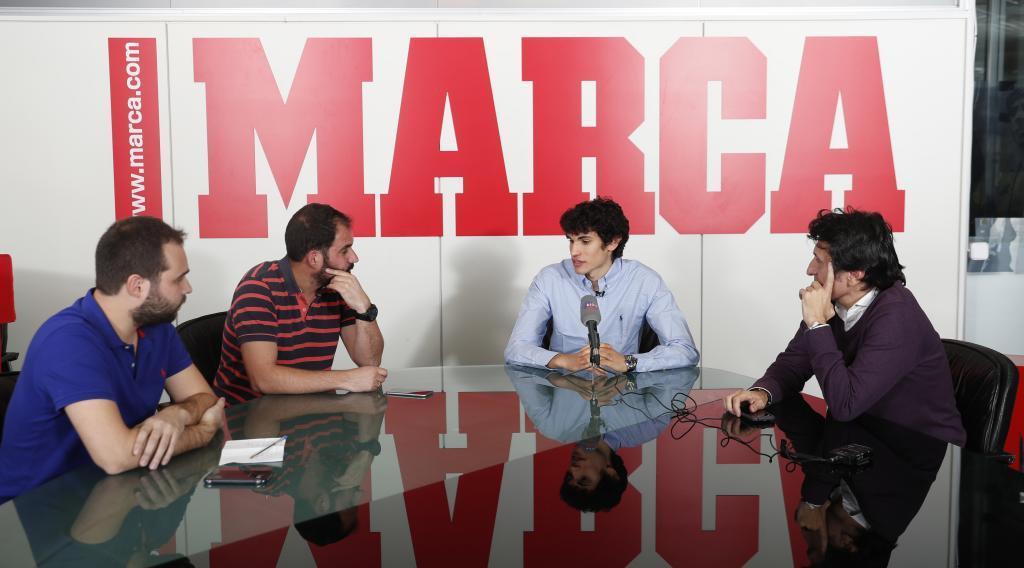 Vallejo, durante la entrevista en MARCA