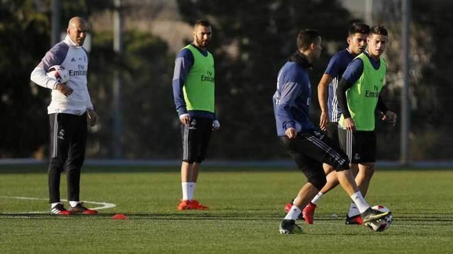 Los jugadores del Real Madrid, en la vuelta al trabajo.