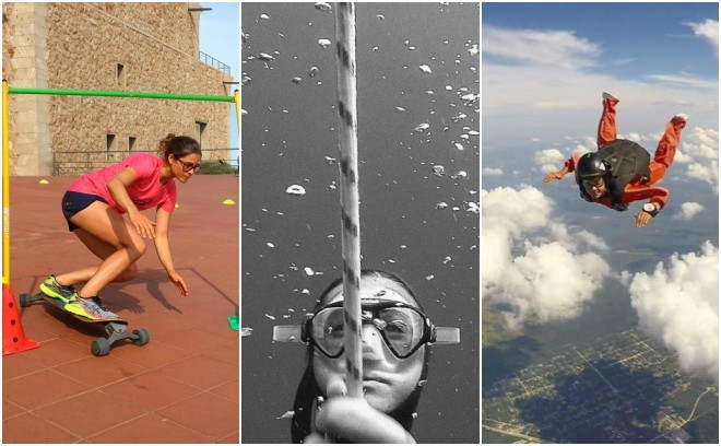 Gisela Pulido entrenando por tierra, mar y aire