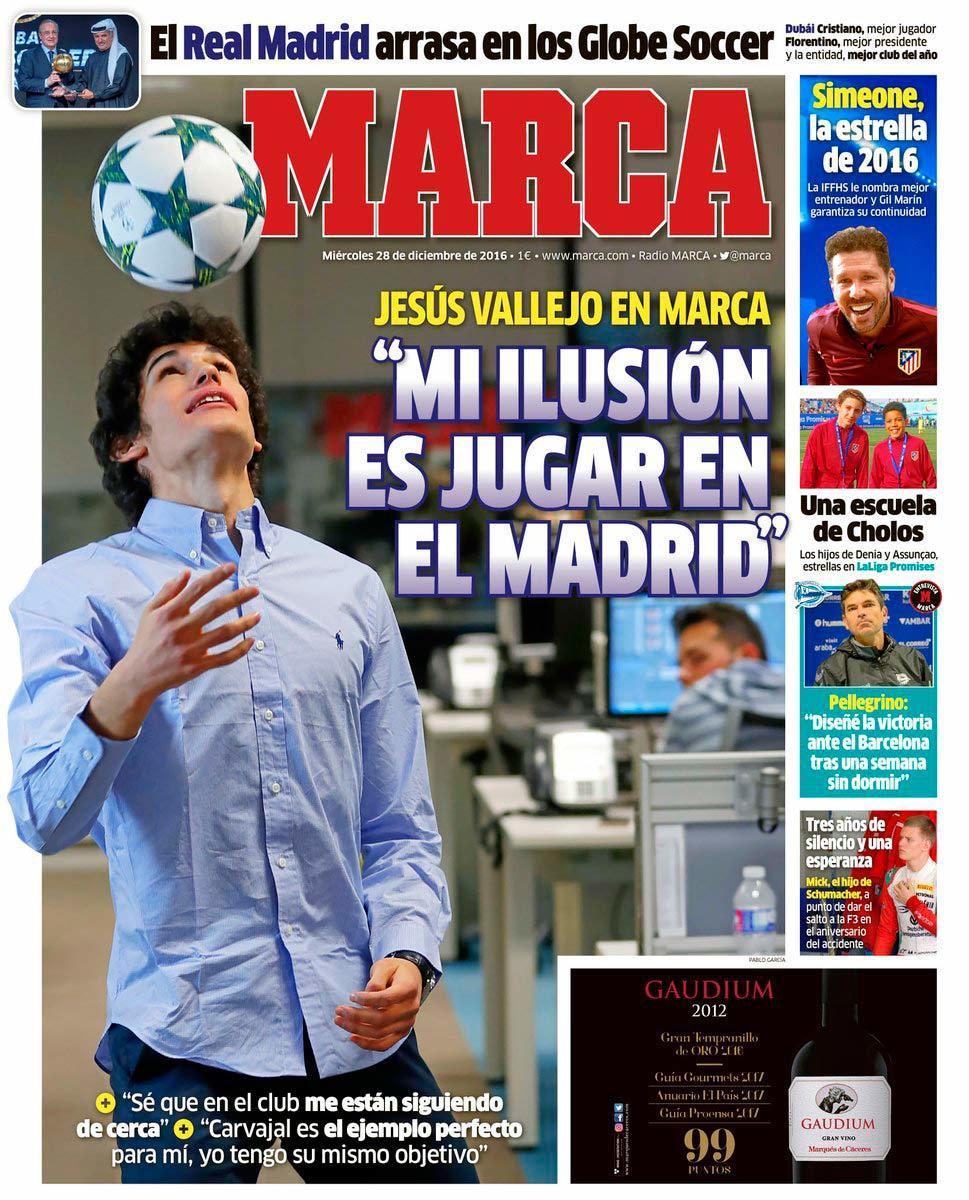 Las portadas del d a el futuro madrid de vallejo el for El marca del madrid