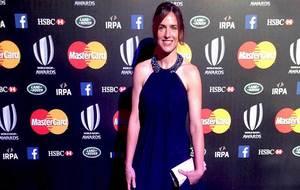 Alhambra Nievas, en la gala de los premios de este año de World Rugby