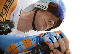 Wiggins en el Tour 2009 con los colores del Garmin-Slipstream.