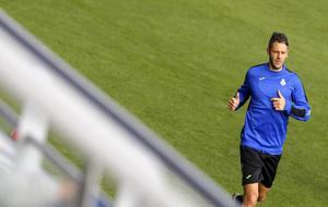 Demichelis durante un entrenamiento en la ciudad deportiva de Sant...