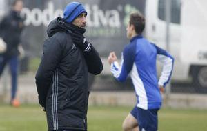 Raúl Agné durante un entrenamiento.