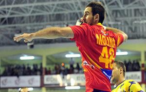Carlos Molina durante el partido entre España y Bosnia disputado en...