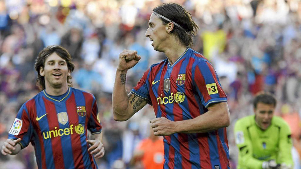 Image result for ibra and messi barcelona