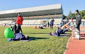 Una imagen del entrenamiento de este viernes del equipo madrileño