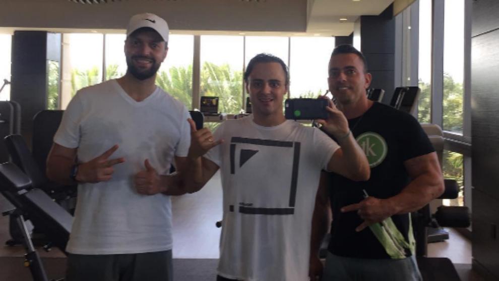 Massa, tras su sesión de gimnasio de hoy en Sao Paulo.