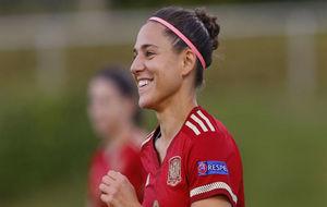 Verónica Boquete durante un partido con la selección española.