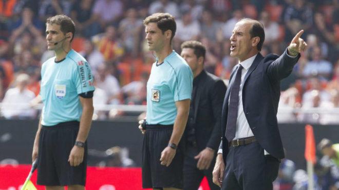 Voro, durante el partido de esa temporada ante el Atlético de Madrid.