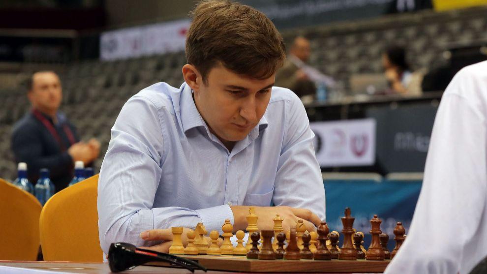 Serguei Karjakin, durante el Mundial de partidas relámpago.