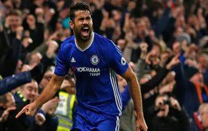 Diego Costa celebra un gol ante el Stoke