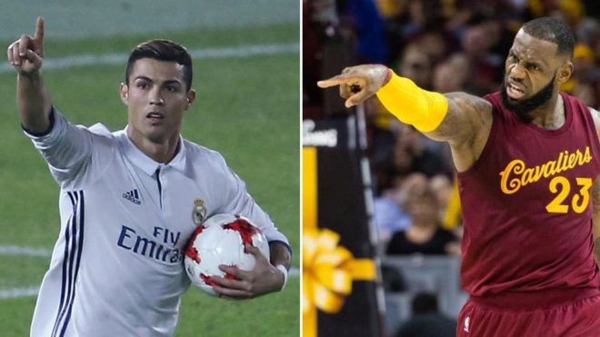 wholesale dealer 534f5 520cc Cristiano Ronaldo and LeBron James: Two geniuses with ...