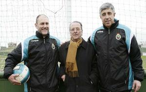 'Fede' Castaños, Manuel Fernández Mora y Pedro Alba en la...